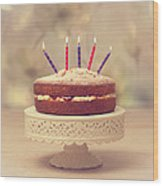 Birthday Cake Wood Print