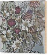Birthday Flowers Wood Print