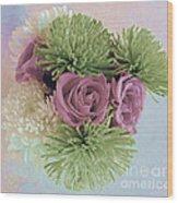 Birthday Flowers Three Wood Print