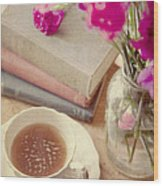Birthday Tea Time Wood Print by Toni Hopper