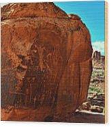 Birthing Rock Wood Print