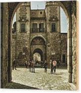 Bisagra Gate And Courtyard Wood Print