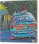 Bisbee Arizona Art Car Wood Print