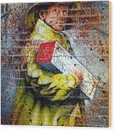 Biscuit Boy Wood Print