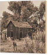 Bishop Homestead Wood Print
