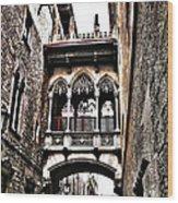 Bishop's Street - Barcelona Wood Print by Juergen Weiss