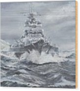 Bismarck Off Greenland Coast  Wood Print