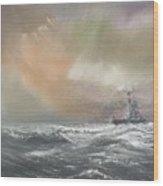 Bismarck Signals Prinz Eugen  Wood Print