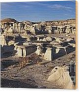 Bisti Badlands Pano Wood Print