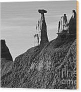 Bisti Land Form 1 Wood Print