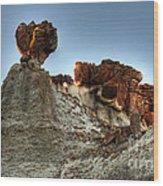 Bisti Land Form 3 Wood Print