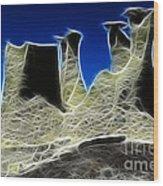 Magical Earth 3 Wood Print
