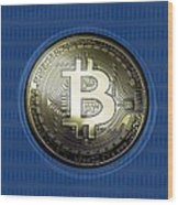 Bitcoin In Circulation Wood Print