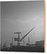 Biw Lightning 2 Wood Print
