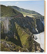Bixby Bridge Near Big Sur On Highway One In California Wood Print