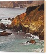 Bixby Bridge Of Big Sur California Wood Print by Barbara Snyder