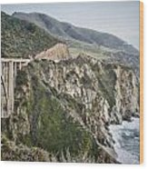 Bixby Bridge Vista Wood Print