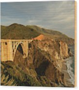 Bixby Creek Bridge In Big Sur Wood Print