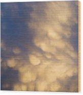 Bizarre Clouds Wood Print