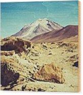 Bizarre Landscape Bolivia Old Postcard Wood Print