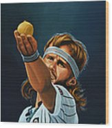 Bjorn Borg Wood Print by Paul Meijering