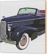 Black 1938 Cadillac Lasalle Wood Print