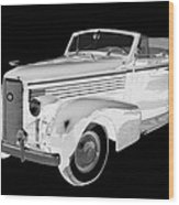 Black An White 1938 Cadillac Lasalle Pop Art Wood Print