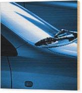 Black And Blue Cars Wood Print by Carlos Caetano