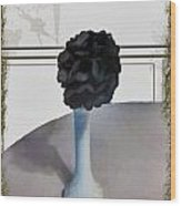 Black And Framed Wood Print
