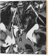 Black And Indeed White Wood Print