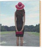 Black And Red Wood Print by Joana Kruse