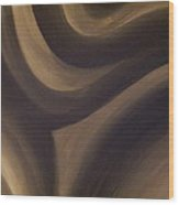 Black And White Abstract Wood Print