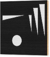 Black And White Art - 120 Wood Print