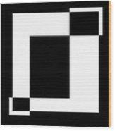 Black And White Art - 128 Wood Print