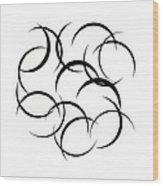 Black And White Art - 133 Wood Print