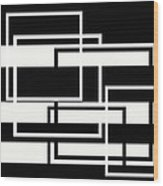 Black And White Art - 151 Wood Print
