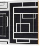 Black And White Art - 153 Wood Print