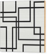 Black And White Art - 156 Wood Print