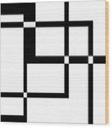 Black And White Art 173 Wood Print