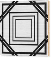 Black And White Art 175 Wood Print