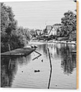 Black And White - Boathouse Row Wood Print