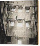 Black And White Bodmin Jail Wood Print