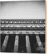 Black And White Chicago Union Station Wood Print