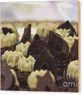Black And White Chocolate Wood Print