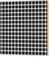 Black And White Dots Wood Print by Daniel Hagerman