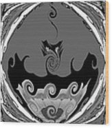 Black And White Explosion Wood Print