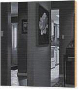 Black And White Foyer Wood Print