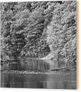 Black And White Landscape Wood Print