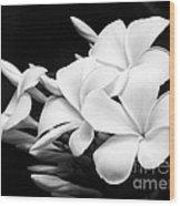 Black And White Lightning Wood Print