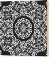Black And White Medallion 10 Wood Print